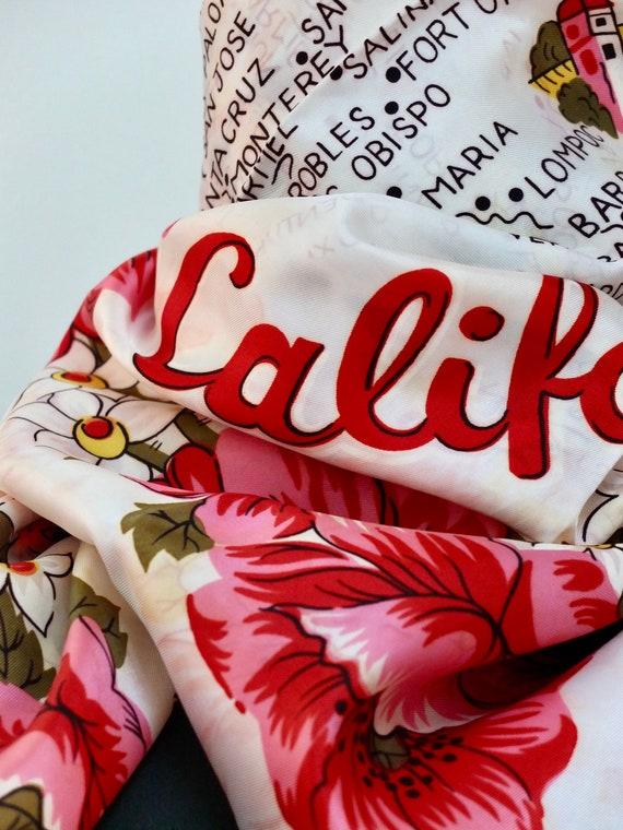 California souvenir scarf / 60s California map sc… - image 3