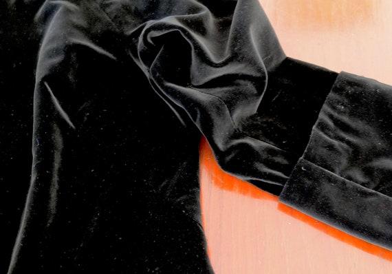Black velvet jacket / vintage velvet jacket / 195… - image 9