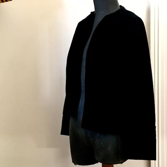 Black velvet jacket / vintage velvet jacket / 195… - image 5