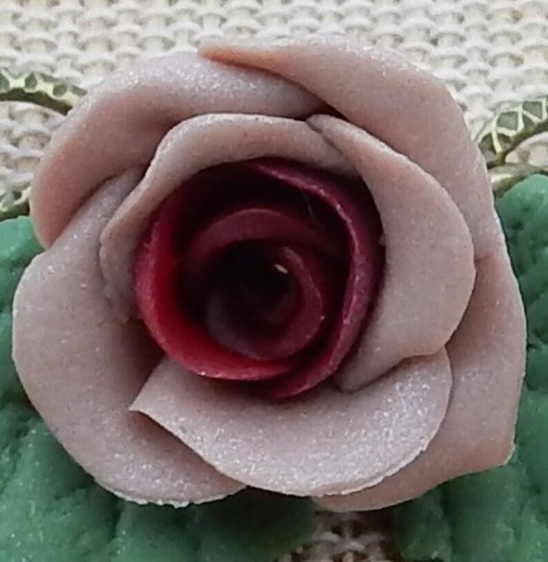 Handmade Shabby Chic Rose Earrings pink