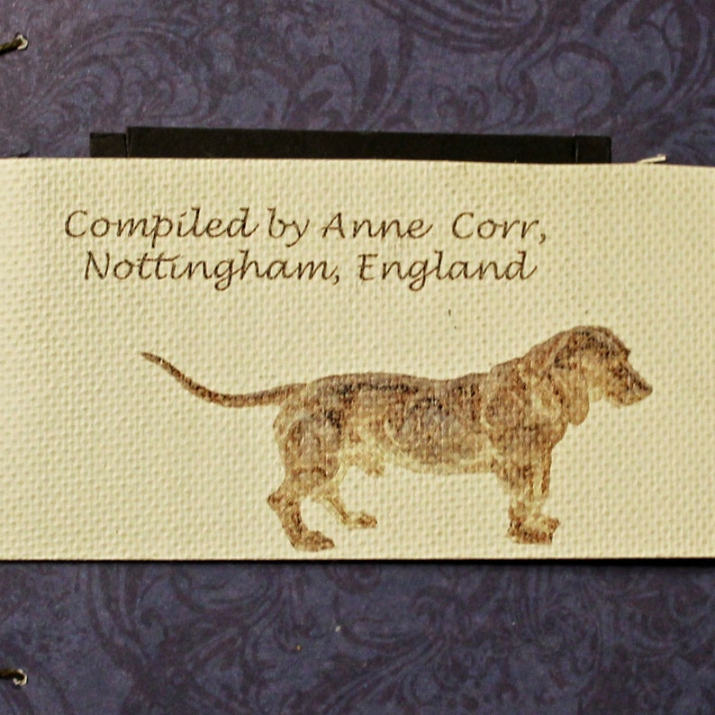 Doglovers gift, illustrated coptic stitched book celebrating dogs, dog  lovers gift,