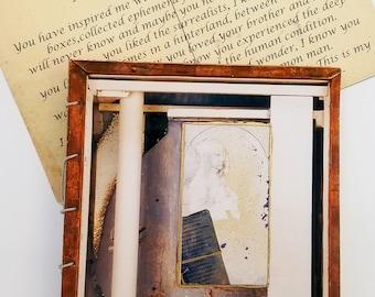 Joseph Cornell - a tribute handmade artist book, reader's gift,  Christmas gift