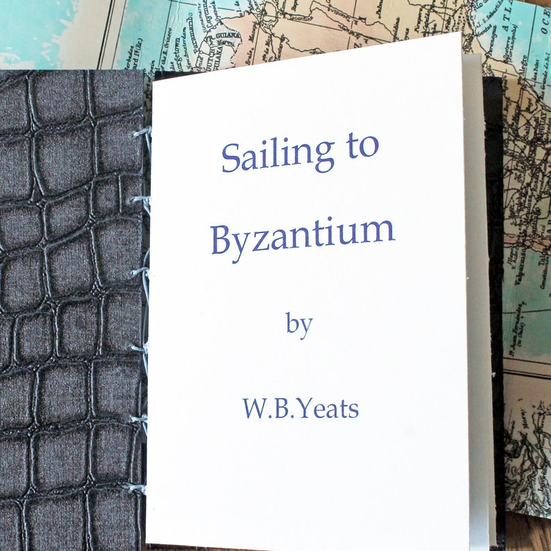 Artists handbound book 'Sailing to Byzantium' image 0