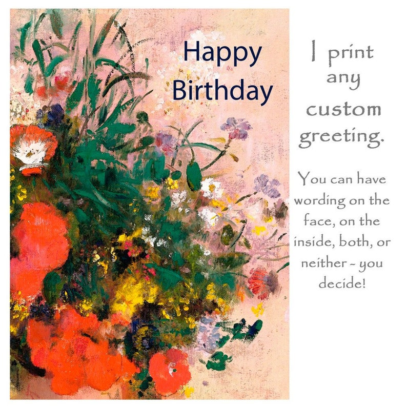 Customised Art Card Customized Greetings Custom