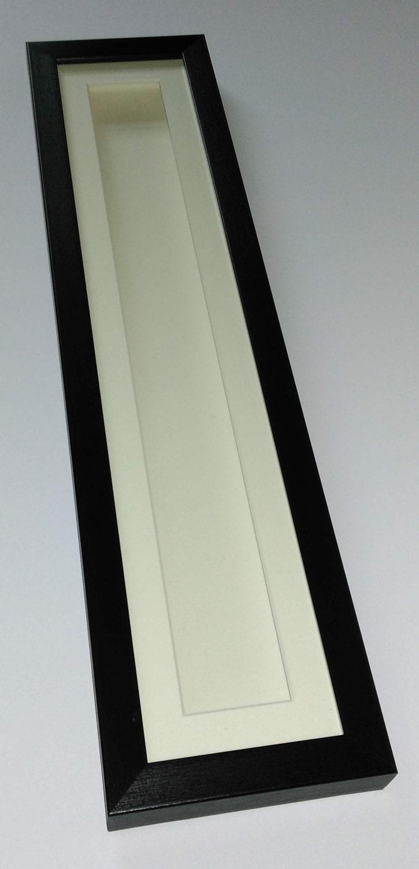 Deep Shadow Box Display Frame Black 20x4 For Long Thin 3d Etsy