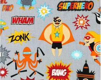 Robert Kaufman Fabric - Super Hero - Bright - from FQ to Metre