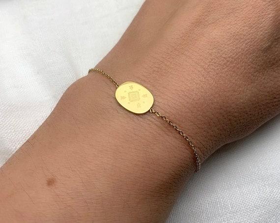 Bracelet Tribal Boho 14k gold plated stainless steel