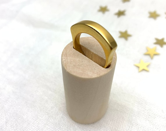Gold Ring LARGE 18k gold plated stainless steel