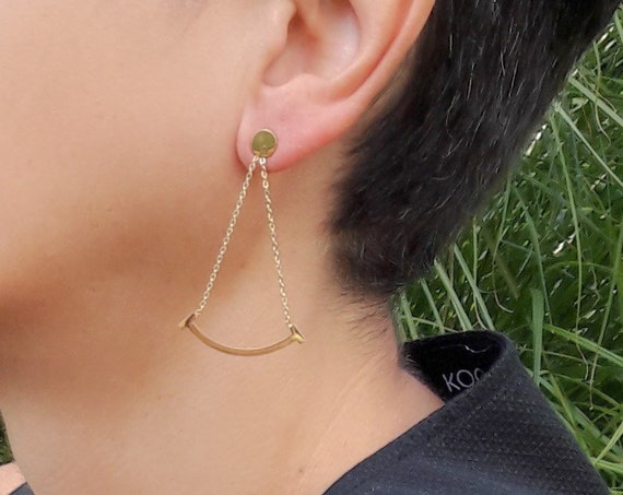 Gold Smile Earrings 18k plated on stainless steel