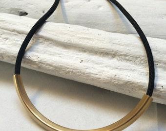 203f37b940e85 Gold tube black rope   Etsy