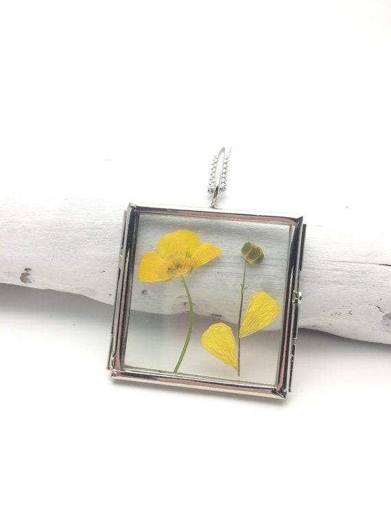 Fait à la main Verre Cadre goutte d/'eau Forme séché Fleur Boucles d/'oreilles pendantes Mariage