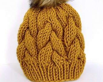 the kimmy | chunky cable knit beanie