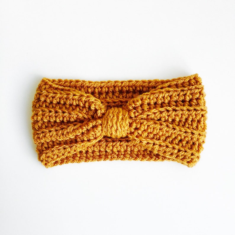 Crocheted Baby/Kid/Adult Turband Mustard image 0