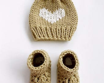 bébé | hat & booties set