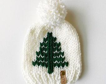bèbè | knit pom hat [christmas tree]