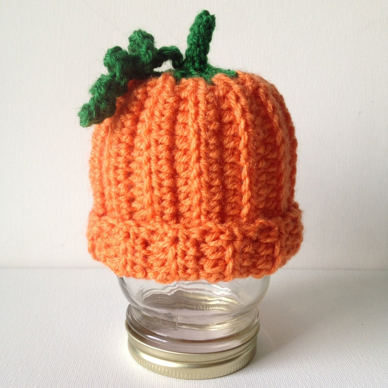 Ready to Ship  Crochet Pumpkin Hat image 0
