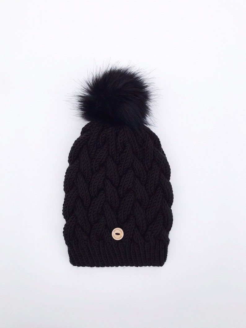 The Ana   Cable Knit Adult Hat image 0