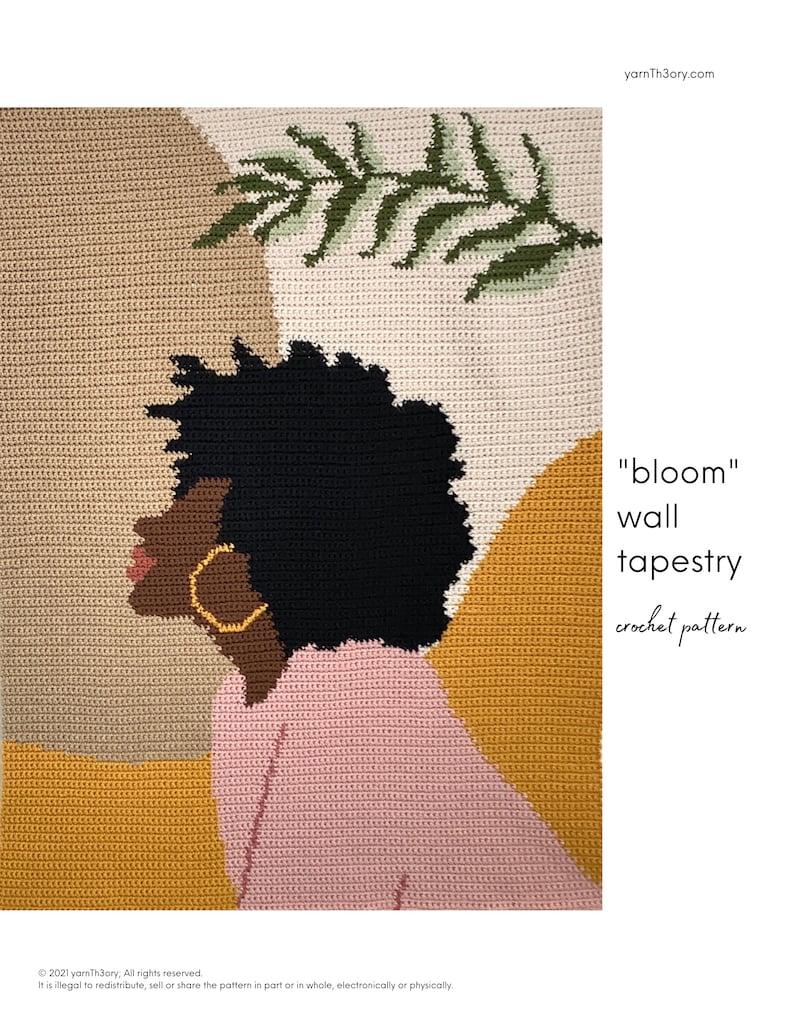 wall tapestry bloom   crochet pattern image 0