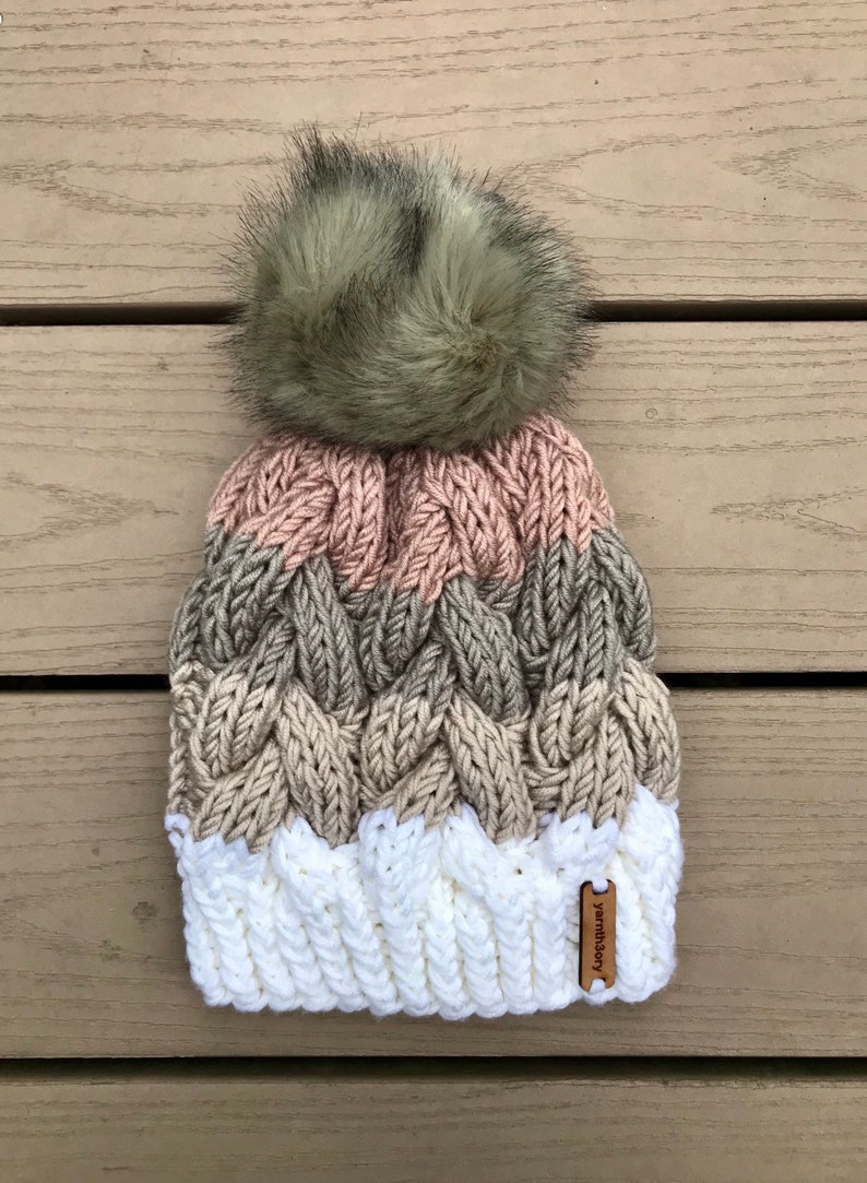 The Kimmy  Chunky Cable Knit Beanie image 0