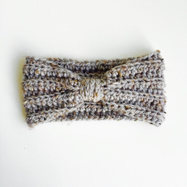 Crocheted Baby/Kid/Adult Turband Grey Heather image 0