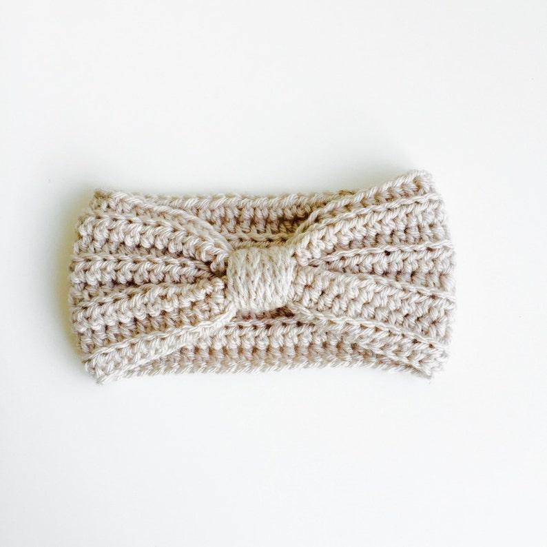 Crocheted Baby/Kid/Adult Turband Linen image 0