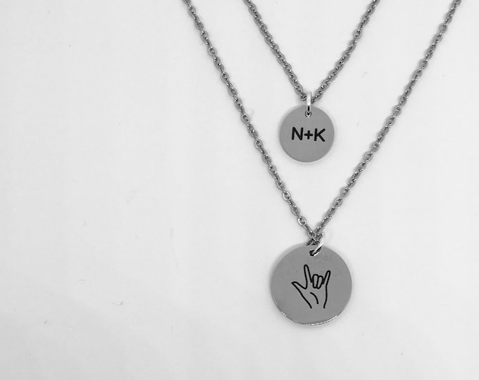 Custom Jewelry || Stainless Steel || I Love You || Layering Necklaces