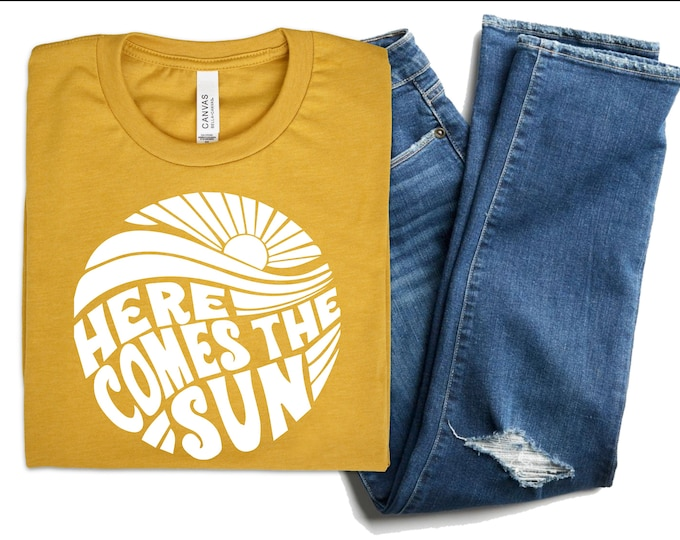 Here Comes The Sun || Heather Mustard Yellow || TShirt