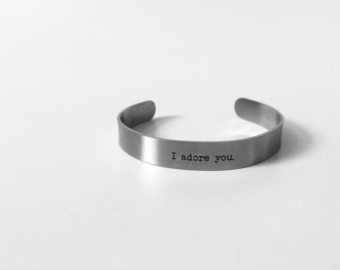CUSTOM || Stainless Steel Cuff Bracelet || Customize Your Message