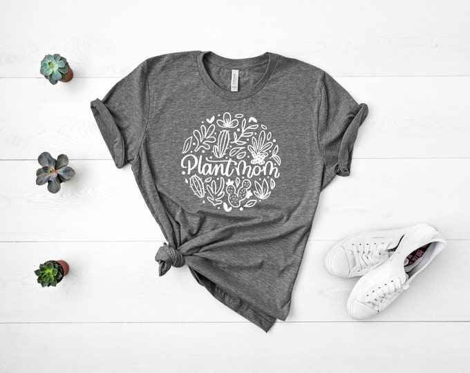 PLANT MOM || Deep Heather Grey || TShirt