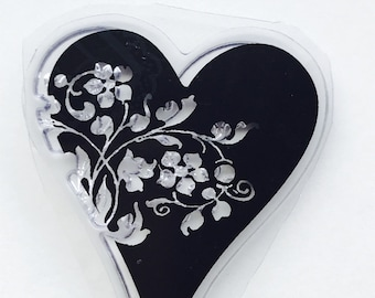 New for Scrapbooking Rubber Stamping & Handmade Cards one Clear Acrylic  Stamp  -- Heart #38