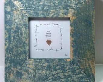 SOLD!!!!!!!  Love never fails - 1 Corinthians 13.