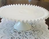 Cake Stand, Wedding Cake Stand, Milk Glass, Cake Stand, Silvercrest, Vintage Fenton, Fenton Glass, Cake Stands, Vintage Milk Glass