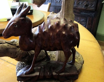Carved animals etsy