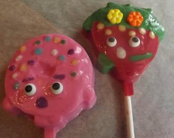 Shopkins Chocolate Candy Lollipops