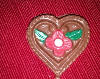 Flower Heart Lollipop  Party Favor