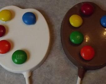 Artist Palletts Chocolate Candy Lollipops