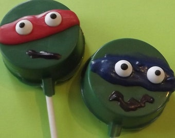 Ninja Turtle Oreo's on a Stick Chocolate Candy Lollipop