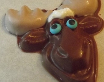 Moose Chocolate Candy Lollipop