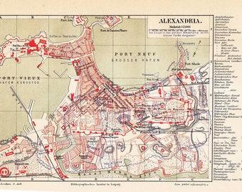 Mazedonien Karte.Alte Karte Mazedonien Etsy