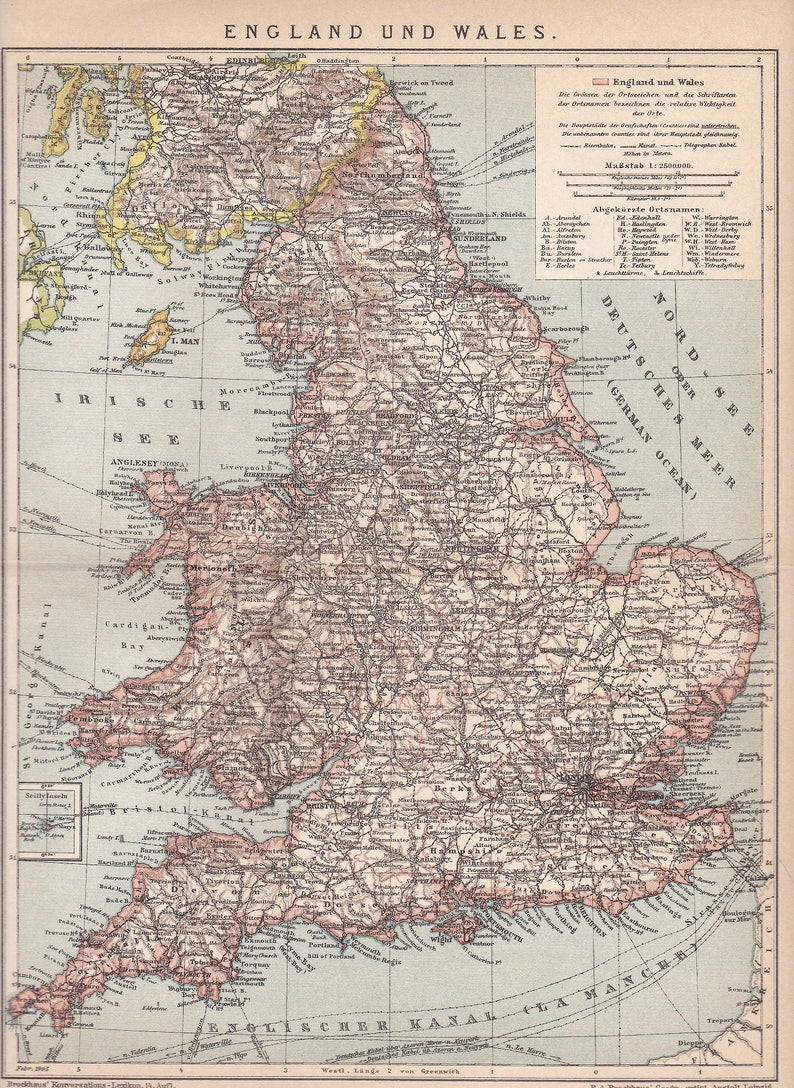 Map Of England Political.1905 Political Map Of England And Wales At The Beginning Of The 20th Century Original Dated Antique Map