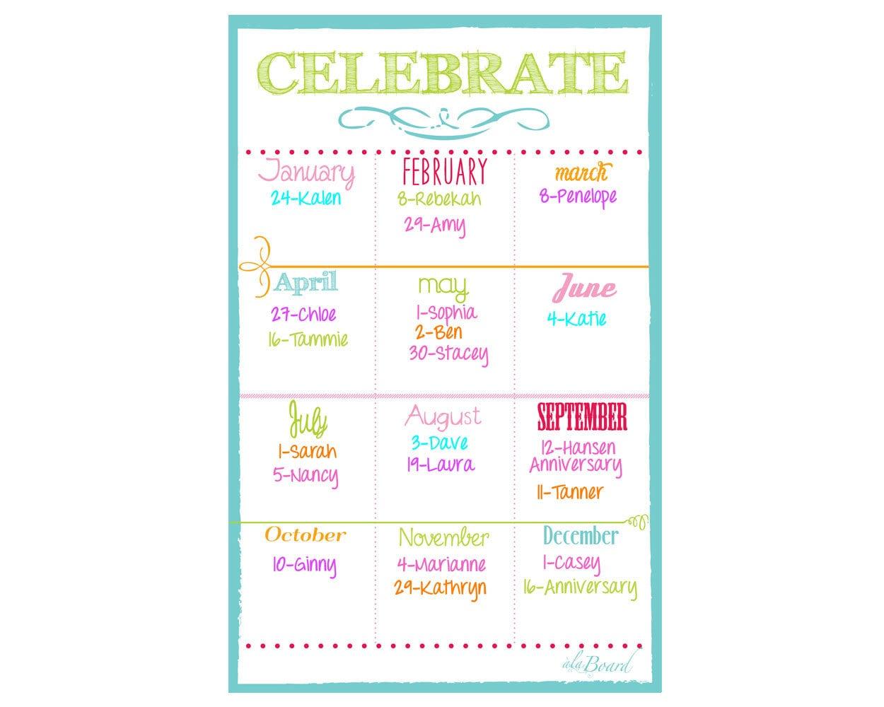 Class Birthdays Employee Birthday