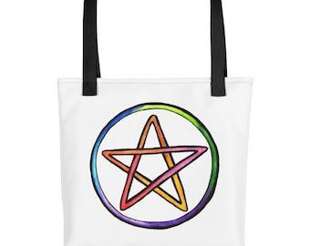 Rainbow Pentacle Tote bag