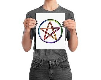 Rainbow Pentacle Poster