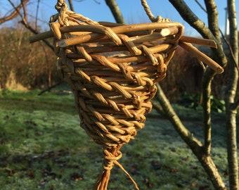 Willow Garlic Basket or Bird feeder