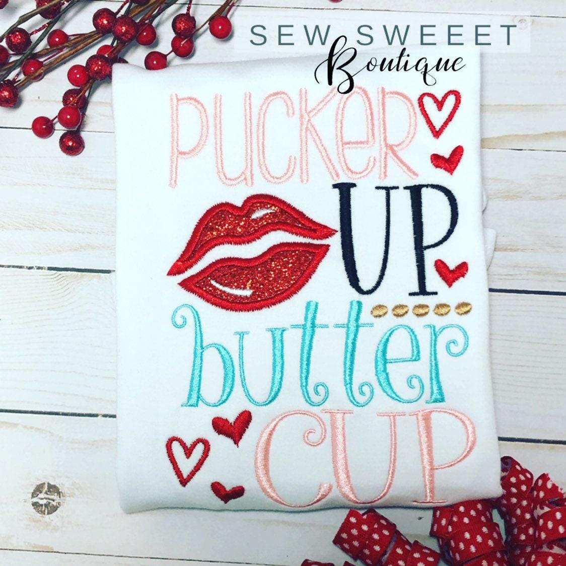ffa9727e738 1 Source · Pucker up buttercup girls valentine shirt Valentine s Day