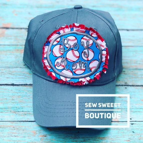 197ffd2b Boy mom raggy patch baseball cap monogram baseball hat raggy | Etsy