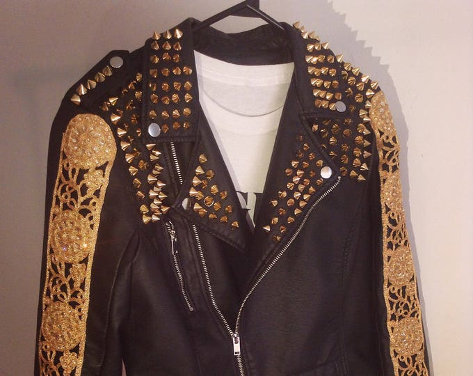 SOLD OUT Studded (Faux) Leather Jacket