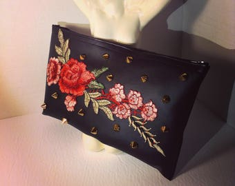Studded Rose Clutch