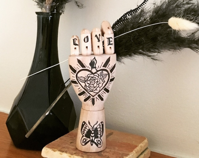 Tattooed Hand Vase