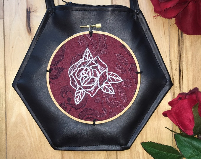 Hexagon Rose Purse
